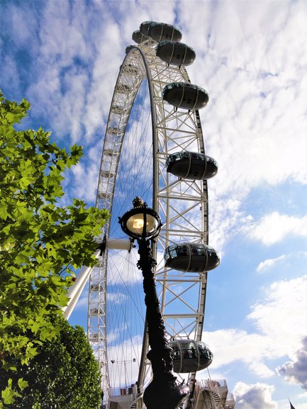 The famous London Eye on the Southbank