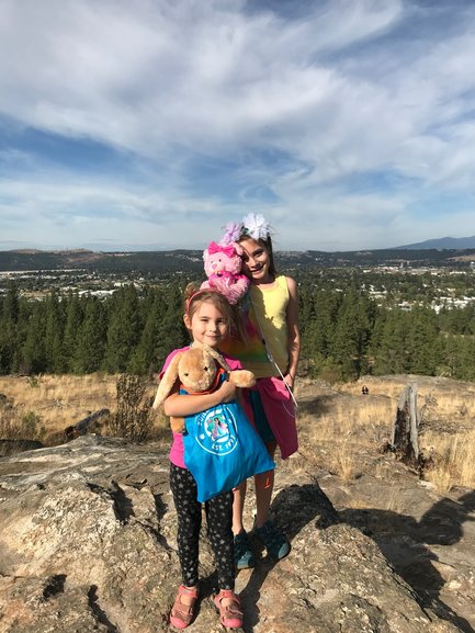 Dishman Hills hike with the Build A Bear