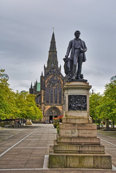 Glasgow Cathedral and David Livingstone Statue