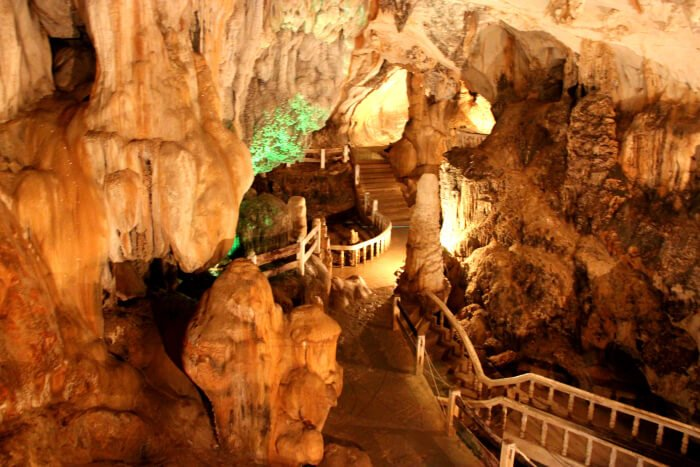 Cave exploration in Vang Vieng