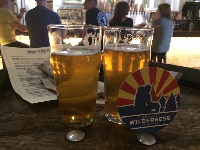 Arizona Wilderness Brewing, post hike refreshments.
