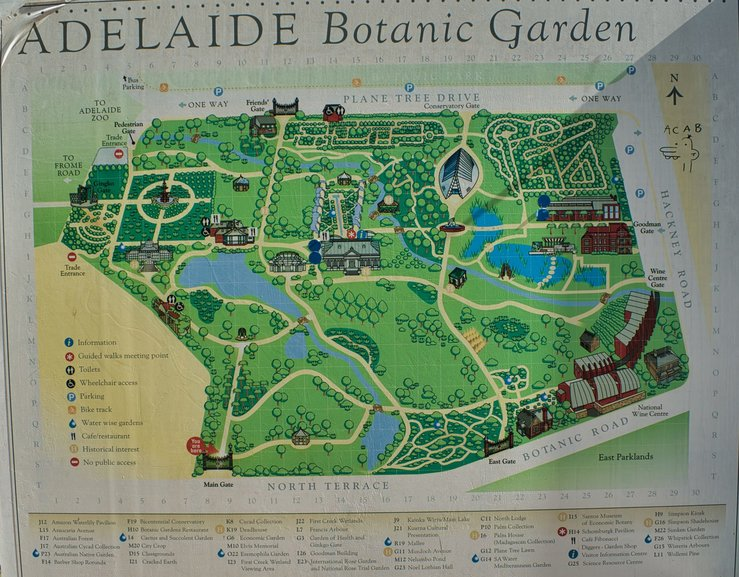 One of the many maps dotted around the gardens to lead you around the paths
