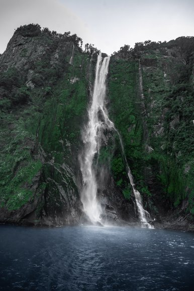 One of the many waterfalls you pass around the fiord