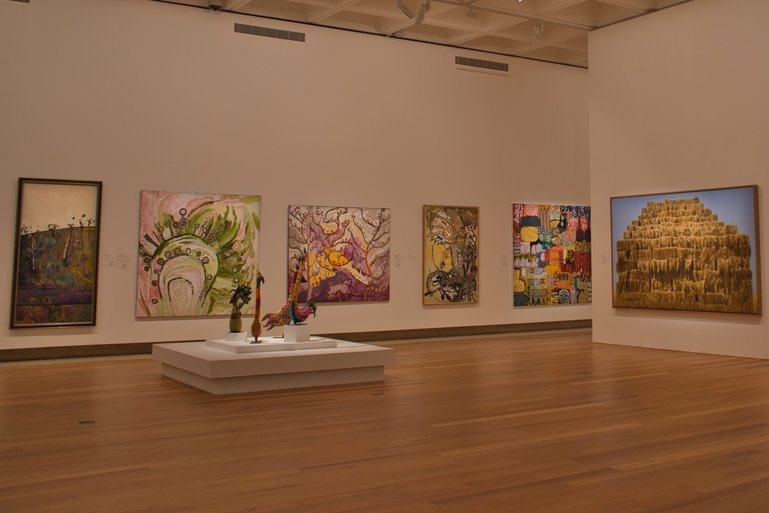 Exhibitions from Australian artists as well as international line the walls of the Art Gallery