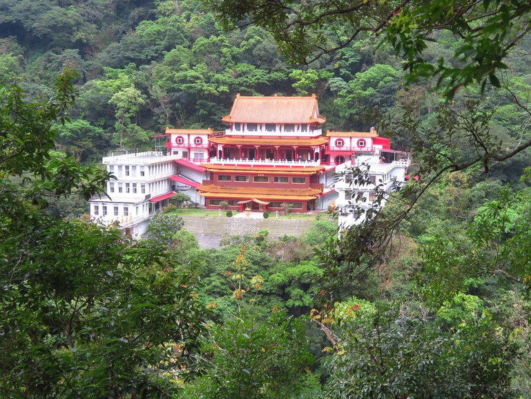Changuang Temple, located along the Eternal Spring Shrine Trail