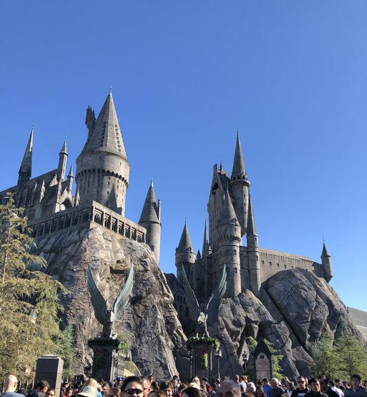 Hogwarts Castle houses the ride Harry Potter and the Forbidden Journey