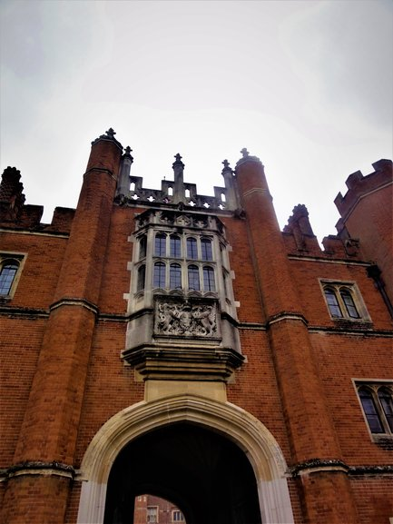 The front of Hampton Court Palace
