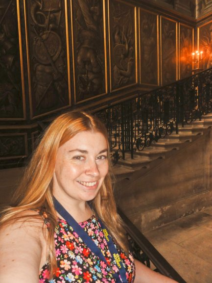 Myself in the newer baroque section of the palace
