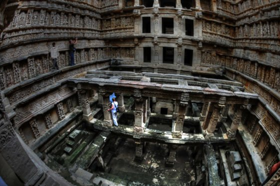 Rani ki vav, the most famous stepwell of India is situated in the town of Patan in Gujarat.