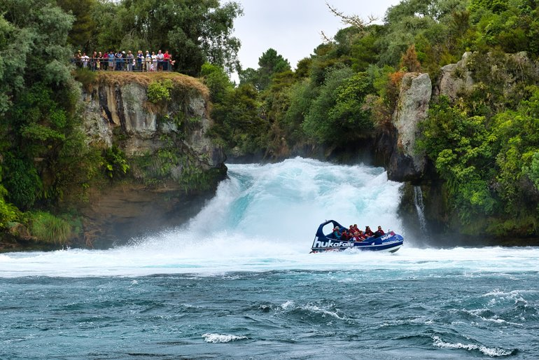 All the thrills of speed and agility on the Huka Falls Jet