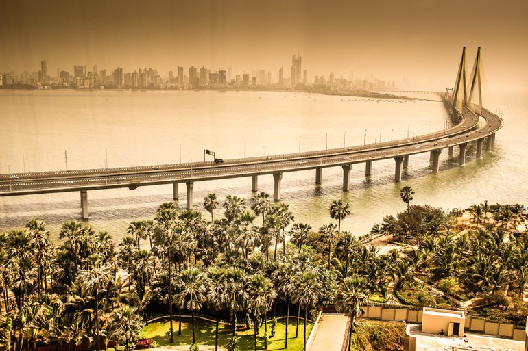 The Sea Link Bridge Between North And South Mumbai