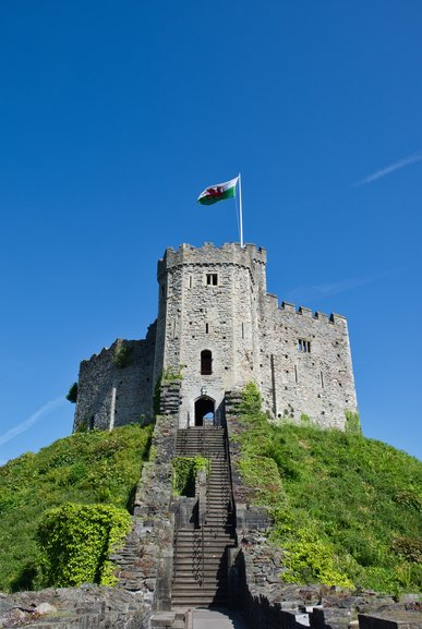The Keep which has great views over the city of Cardiff