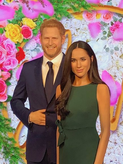 Have your photo taken with Harry and Meghan