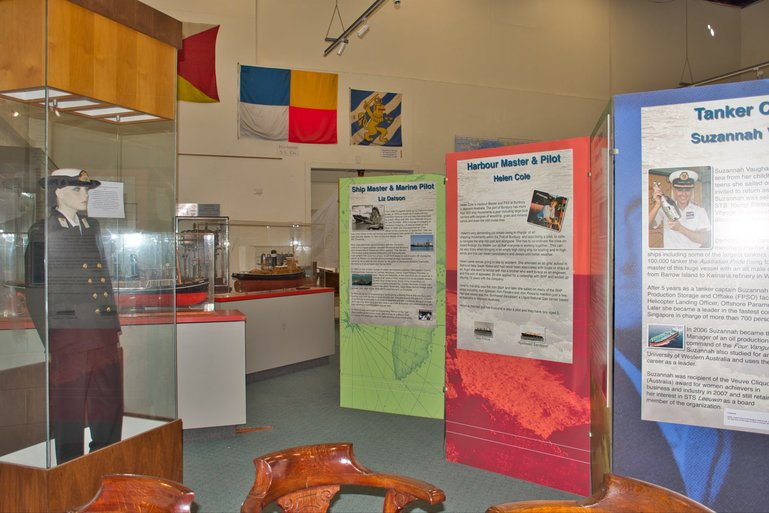 This is just part of the exhibition and information on Women and the Sea