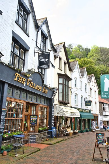 The quaint little shops of the village of Lynmouth
