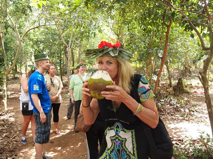 Coconut Water taking during the spice tour in Zanzibar