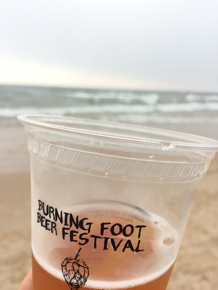 A craft beer festival on the shores of Lake Michigan