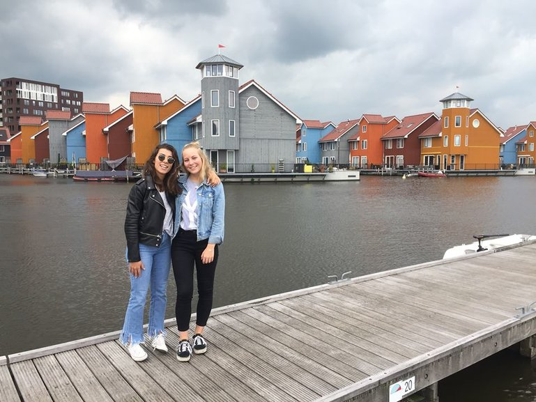 My friend Maria and I in Groningen, Netherlands.