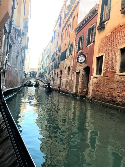 Ride in a Gondola across the Grand Canal. That was my dream come true!!