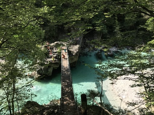 The Most Scenic Soča River Swimming Hole (with Shade and Jump!)