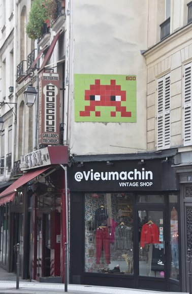 A Space Invader found on the streets of Paris
