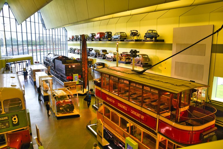 Inside the Riverside Museum with some of the 3000 objects