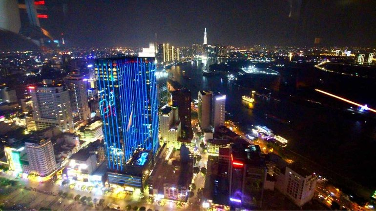 Bitexco Skydeck View at Night
