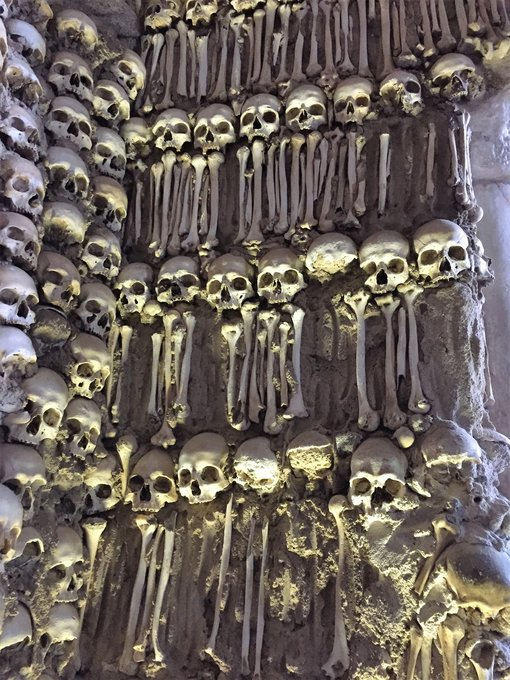 The strange and startling Chapel of Bones in Evora, Portugal