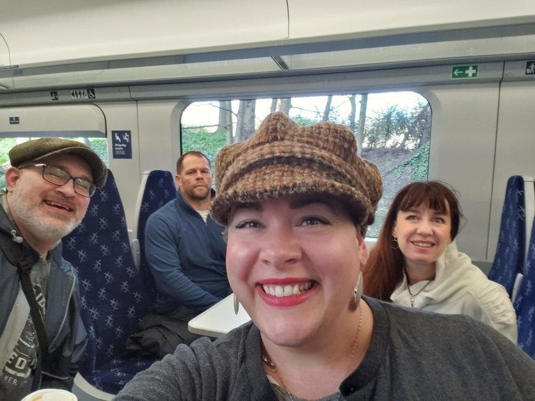 On the train in Scotland