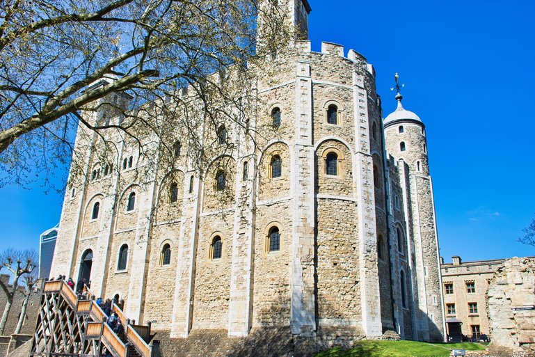 The White Tower is the first building erected by William the Conqueror, the top floors becoming a Royal Residence