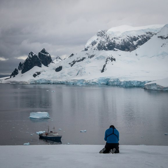 The stunning view of the Antarctic Peninsula