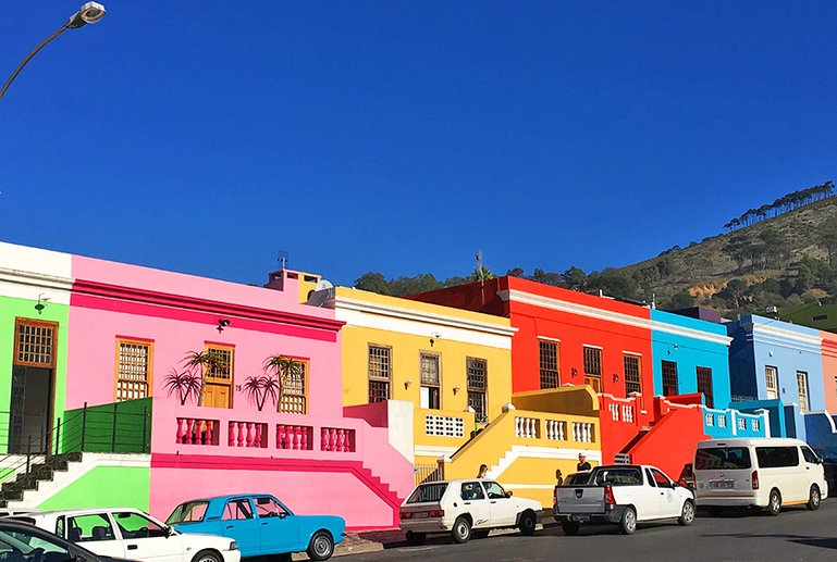 Colourful Bo-Kaap District in Cape Town