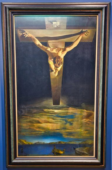 Christ of Saint John of the Cross by Salvatore Dali is a popular piece in the art gallery