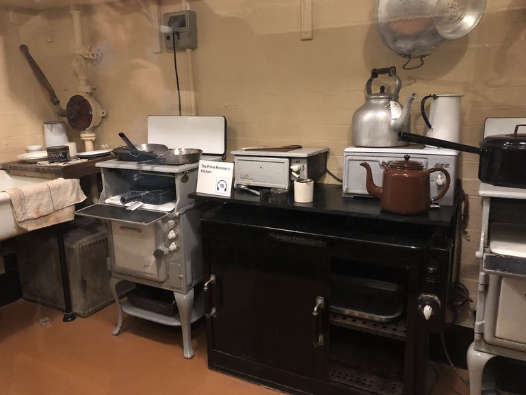 This kitchen supplied the finest of food for Winston Churchill