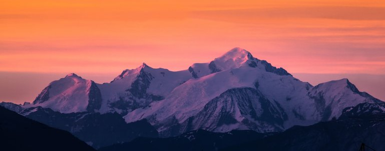 Alpenglow over Mont Blanc