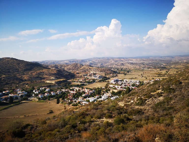 View from the highest hill in Pissouri