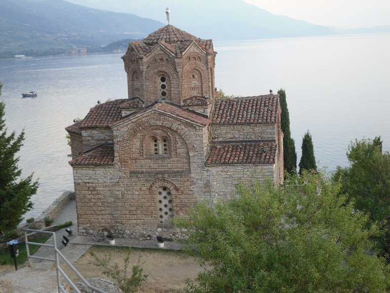 Orthodox Church on the shore of Lake Ohrid, Macedonia