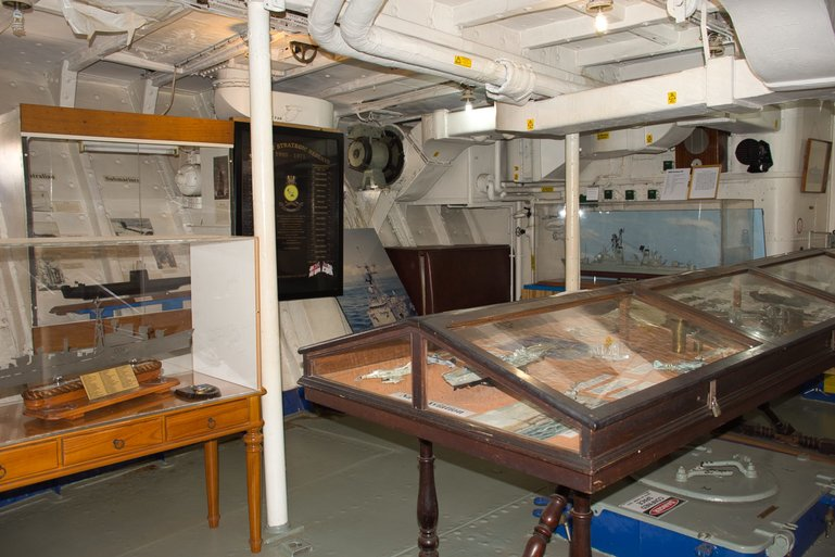 Exhibits and information on Naval life