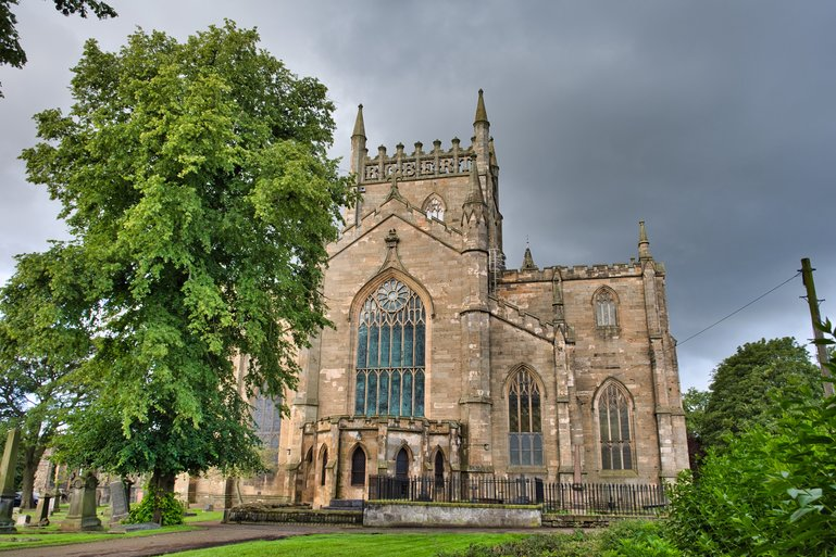 Dunfermline Abbey with the former Shrine of St Margaret