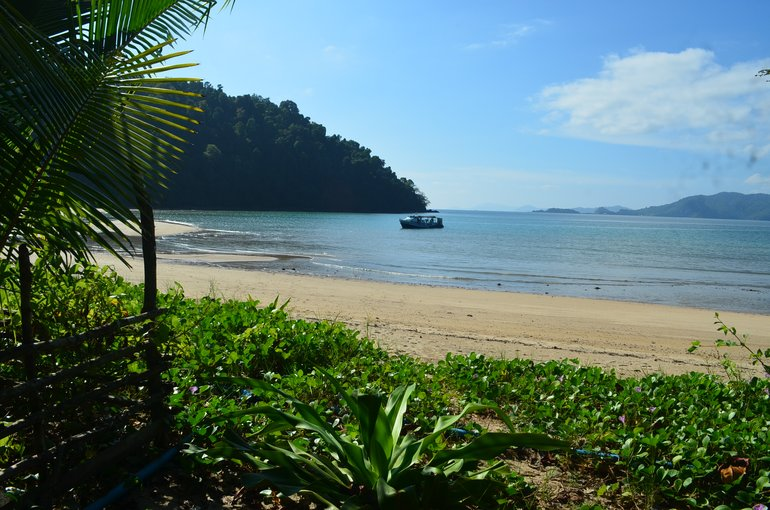 A beach at Dome Island at Myeik Archipleago