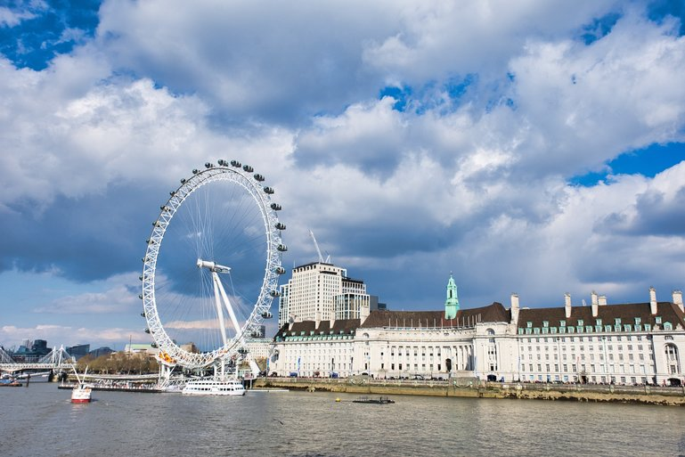 London Eye, Thames cruise, Shrek Adventure, London Dungeon and Sealife Aquarium are all in this spot