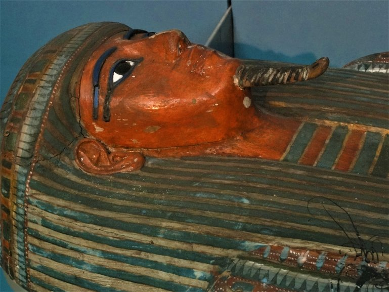 One of the mummies on display at the British Museum. How incredible is this coffin