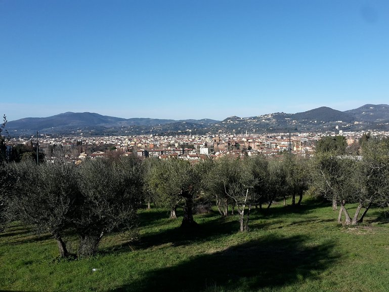 Seeing Florence from a different angle from Pian dei Giullari
