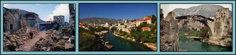 Mostar's landscape will help to tell the stories of the wars which the local community experienced during the early 1990s.