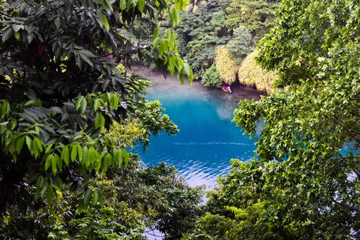 Overview of Blue Lagoon in Portland, Jamaica