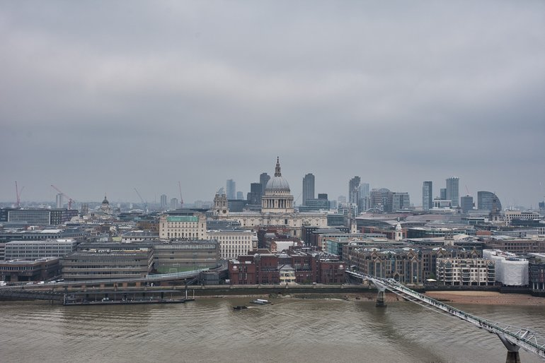 The view from the top of the Tate Modern