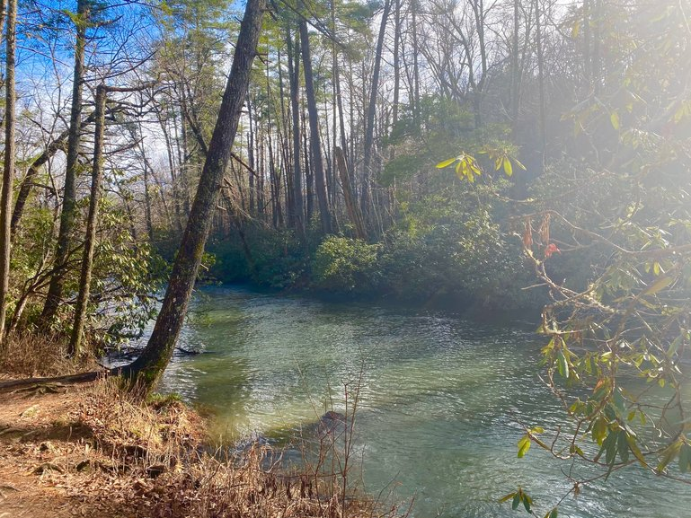 The calming waters of the Abrams Creek
