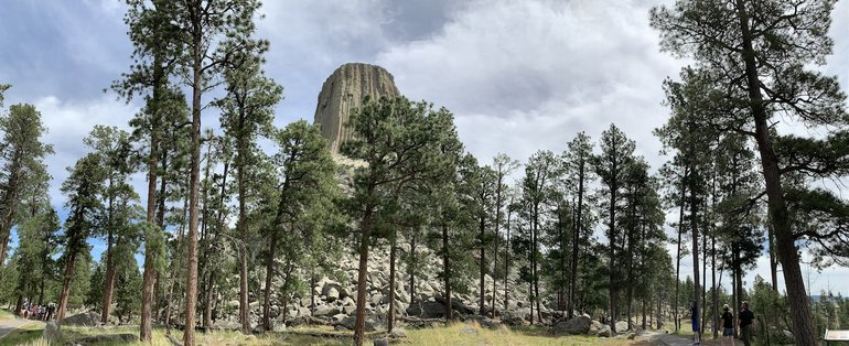 Landscape behind Devils Tower National Monument