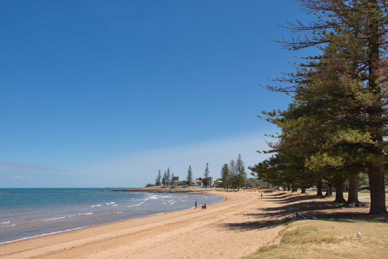 Scarborough Beach is another safe, calm family-friendly beach on Redcliffe Peninsula