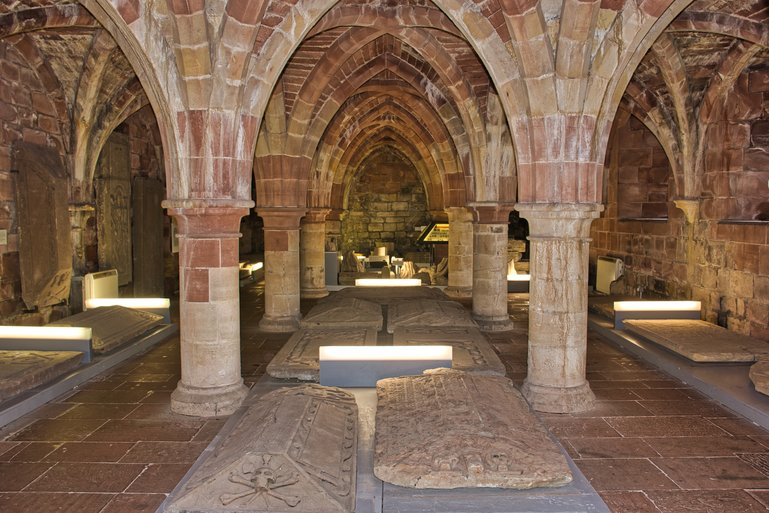 The Museum is down in the cloisters and has old tombstones and stonework from the Cathedral ruins